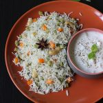 Veg pulao or vegetable pulao recipe with coconut milk | Coconut milk pulao