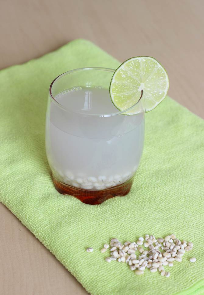 step by step photos on how to make barley water recipe