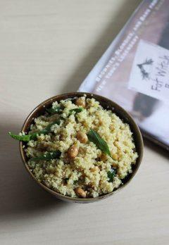 rava pulihora with lemon | broken wheat pulihora recipe