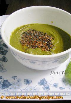 spinach chutney | palakura pachadi | palak chutney recipe