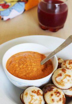 Peanut capsicum chutney recipe | Red capsicum chutney for idli, dosa