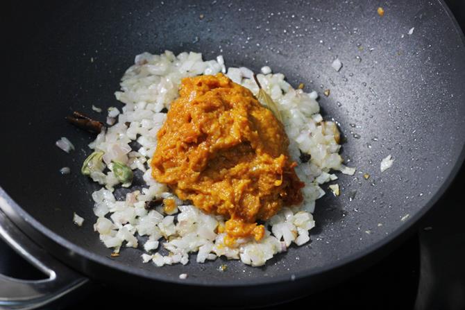addition of tomato onion puree in chana masala recipe