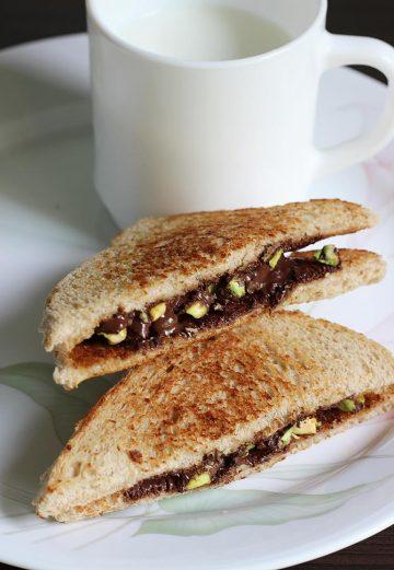 Chocolate sandwich recipe   How to make chocolate sandwich