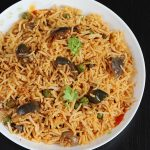 Vangi Bath Recipe – Brinjal Fried Rice Recipe