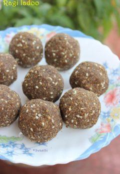 Ragi laddu recipe using jaggery (finger millet flour Balls)