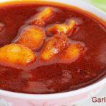 garlic pickle recipe – andhra vellulli avakaya recipe