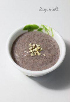 Ragi malt | Ragi porridge or java | Ragi recipes