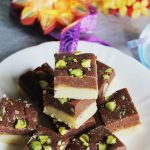 chocolate burfi recipe | chocolate burfi recipe using khoya | diwali sweets recipes