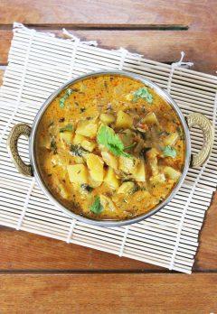 potato kurma recipe, aloo kurma