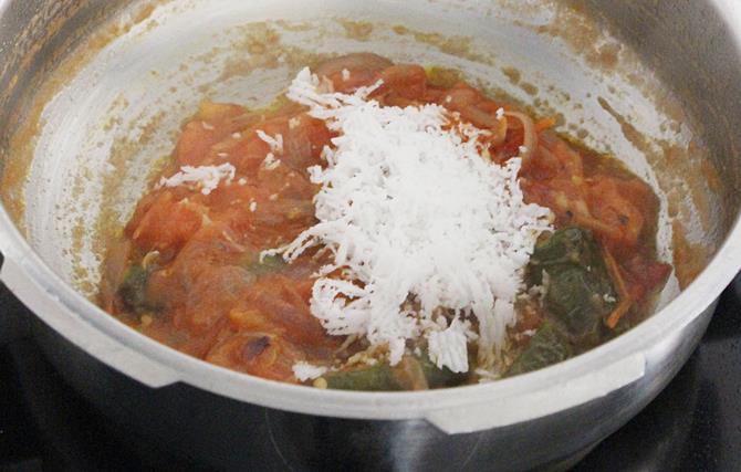 addition of chopped tomatoes salt to make shorba recipe