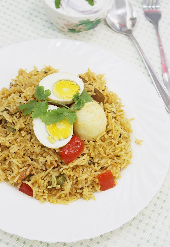 egg biryani or muttai biryani swasthis recipes
