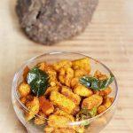 yam fry, how to make yam stir fry (kandagadda vepudu recipe)