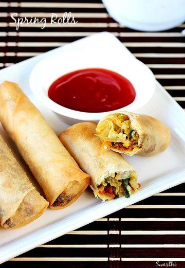 Spring roll recipe | How to make veg spring rolls recipe