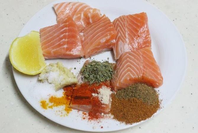 marination ingredients to make amritsari fish fry