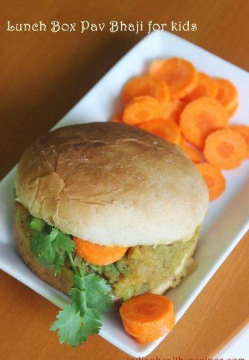 Lunch Box pav bhaji for kids