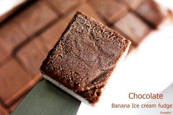 Chocolate Banana ice cream fudge