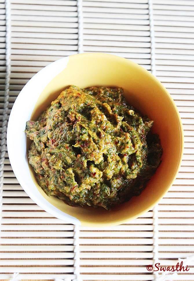methi leaves chutney recipe menthi kura pachadi