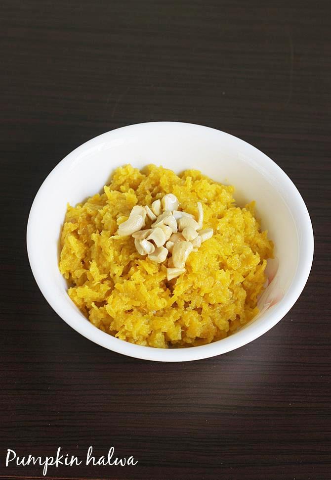 pumpkin halwa recipe swasthis recipes