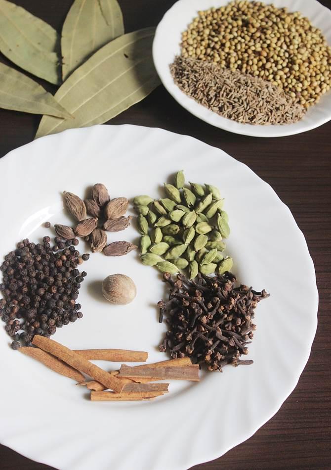 quantity of dry spices used for punjabi garam masala powder recipe