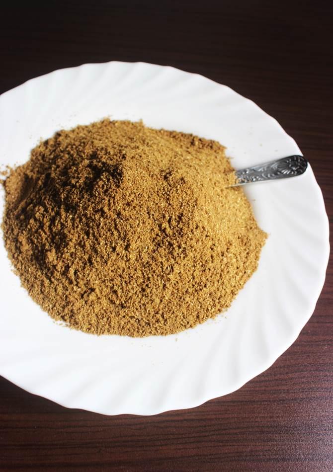 processed powder has to be sieved to make garam masala recipe