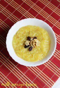 Semiya Kesari Recipe using almond milk