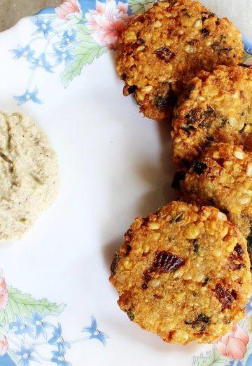 Dal vada recipe   How to make mixed dal vada recipe   Chana dal vada