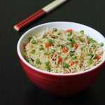 Vegetable Fried Rice Indian Style, how to make Indian vegetable fried rice