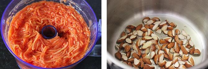 frying nuts for papaya halwa recipe