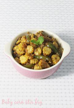 Baby corn stir fry recipe | baby corn sabzi  | how to make baby corn stir fry