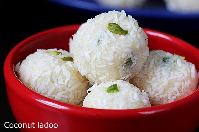 coconut ladoo condensed milk balls