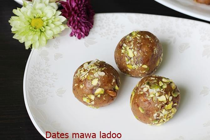 dates mawa ladoo recipes