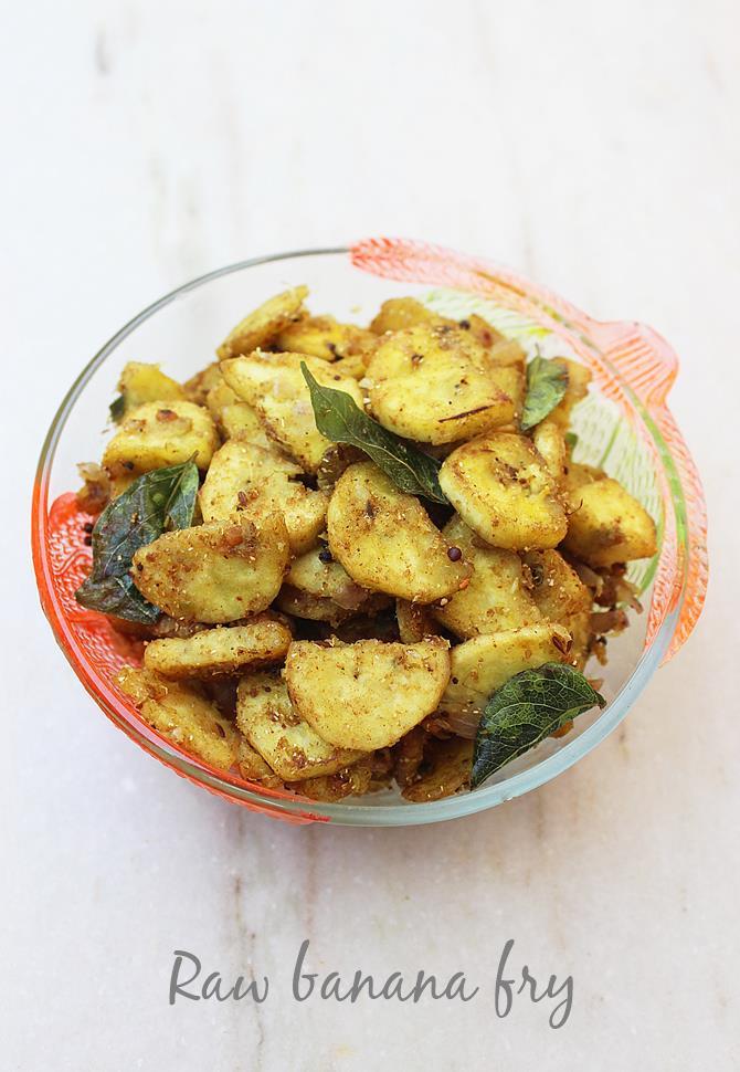 raw banana fry recipe swasthis recipes