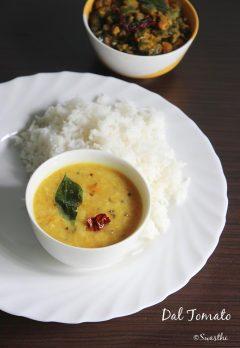 tomato pappu | tomato dal recipe | andhra style tomato pappu