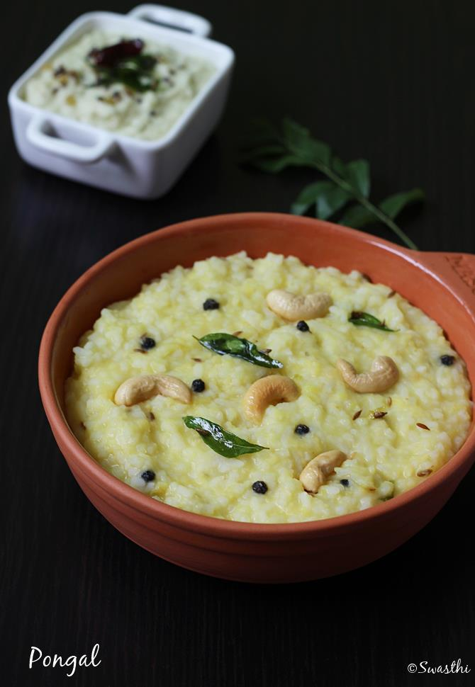 Ven pongal recipe how to make khara pongal recipe with video forumfinder Images