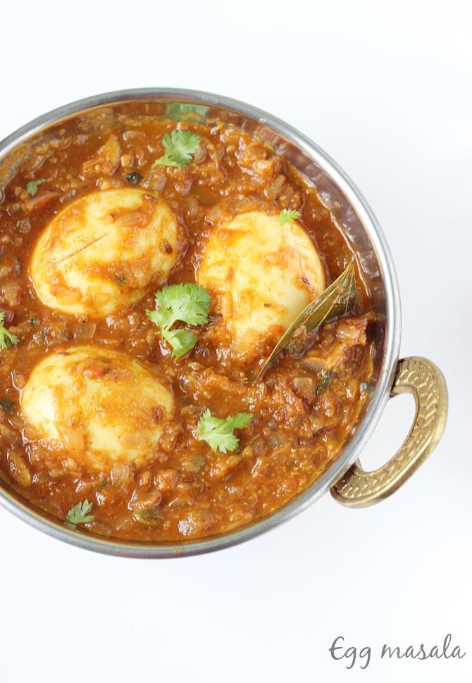 egg masala curry for biryani chapathi