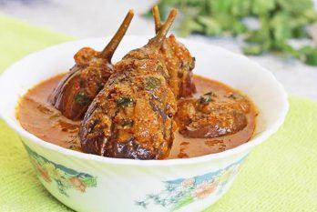 Gutti vankaya kura or curry   Stuffed brinjal curry   enne badanekai