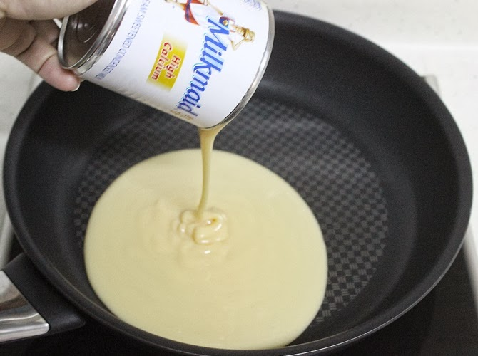 addition of condensed milk for kalakand recipe