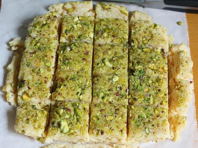 Refrigerate to set for making kalakand recipe