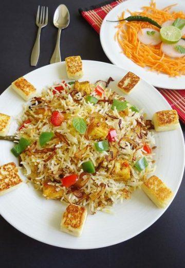 Paneer biryani recipe | How to make paneer biryani recipe
