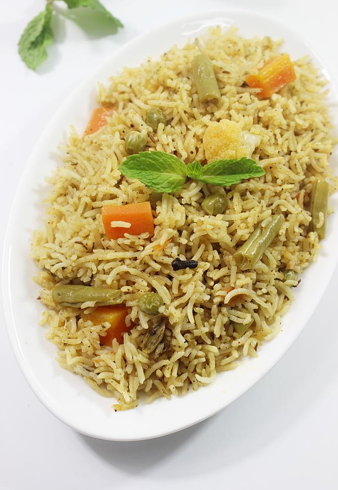 veg biryani recipe swasthis recipes