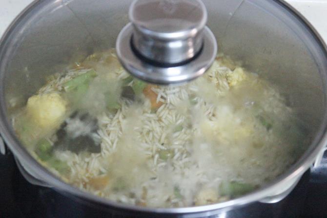 dum style veg biryani recipe