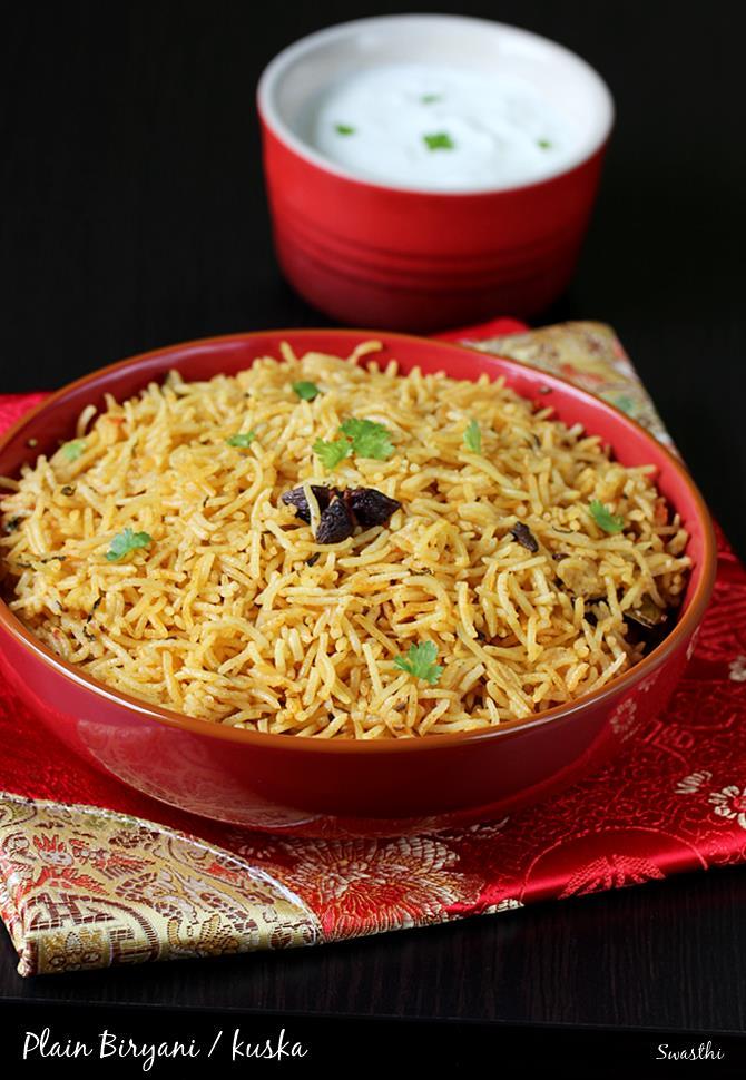 biryani rice recipe kuska