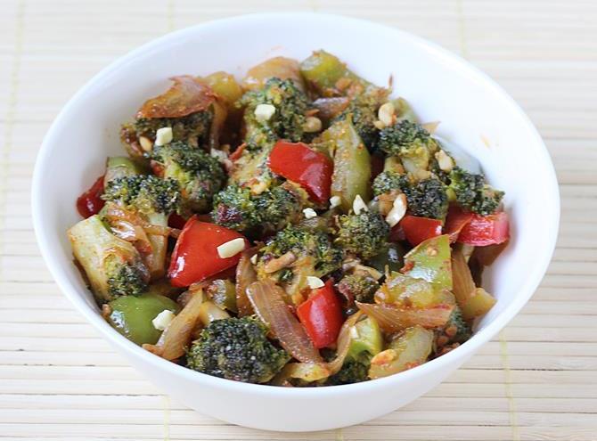 serve broccoli masala