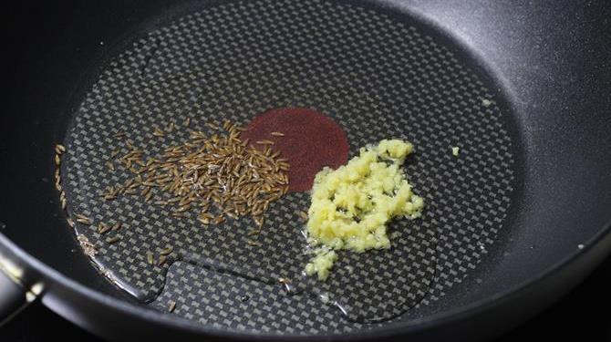 saute ginger in oil