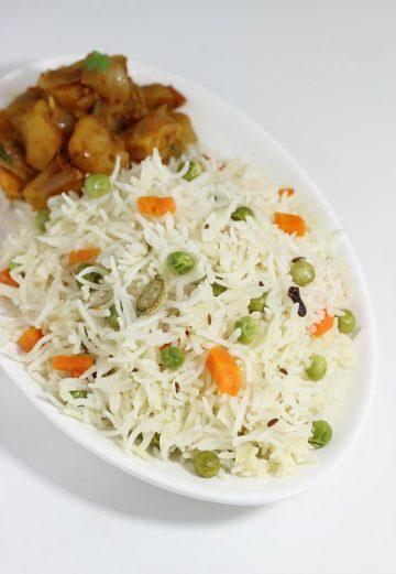 Coconut milk rice   How to make coconut milk rice   Kobbari annam