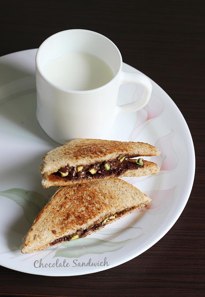how to make chocolate sandwich