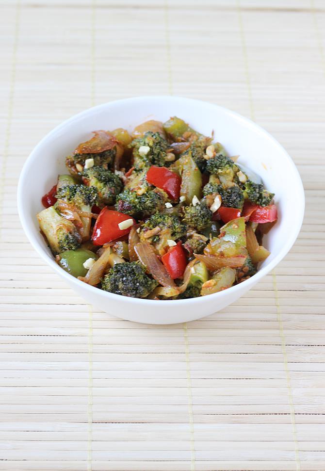 broccoli stir fry recipe, broccoli curry