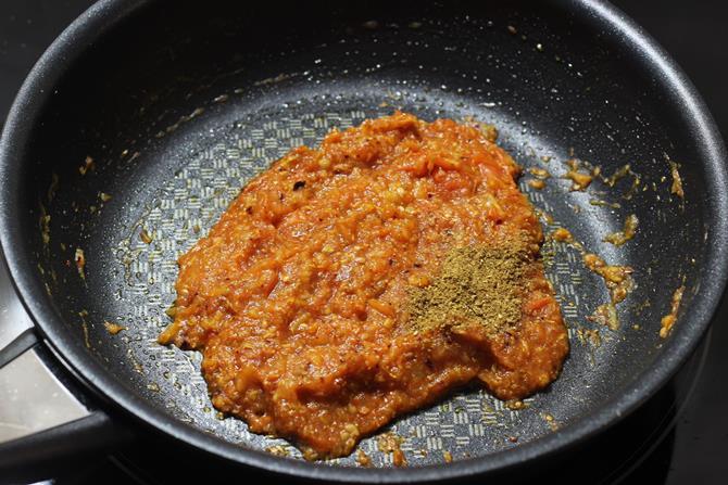 addition of garam masala