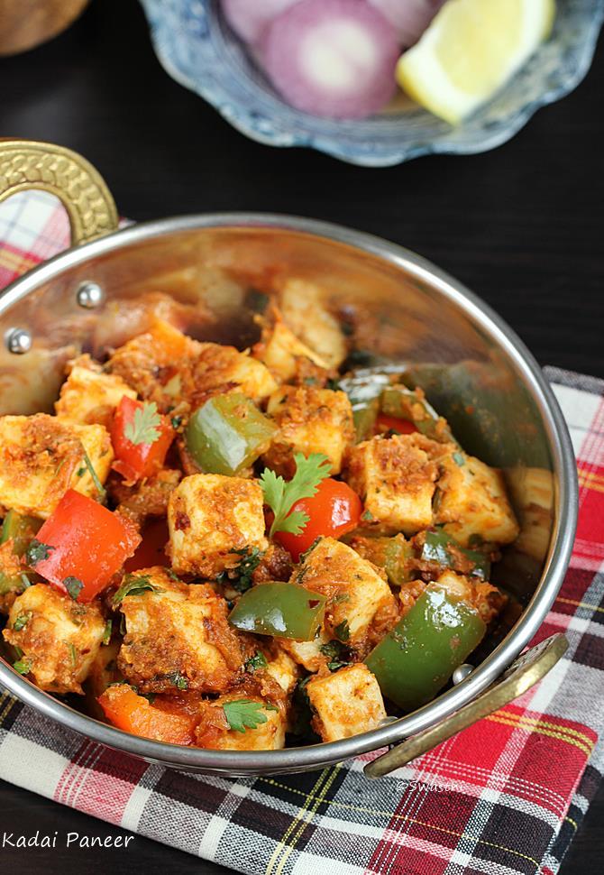 Kadai paneer recipe how to make kadai paneer kadai paneer recipe forumfinder Images