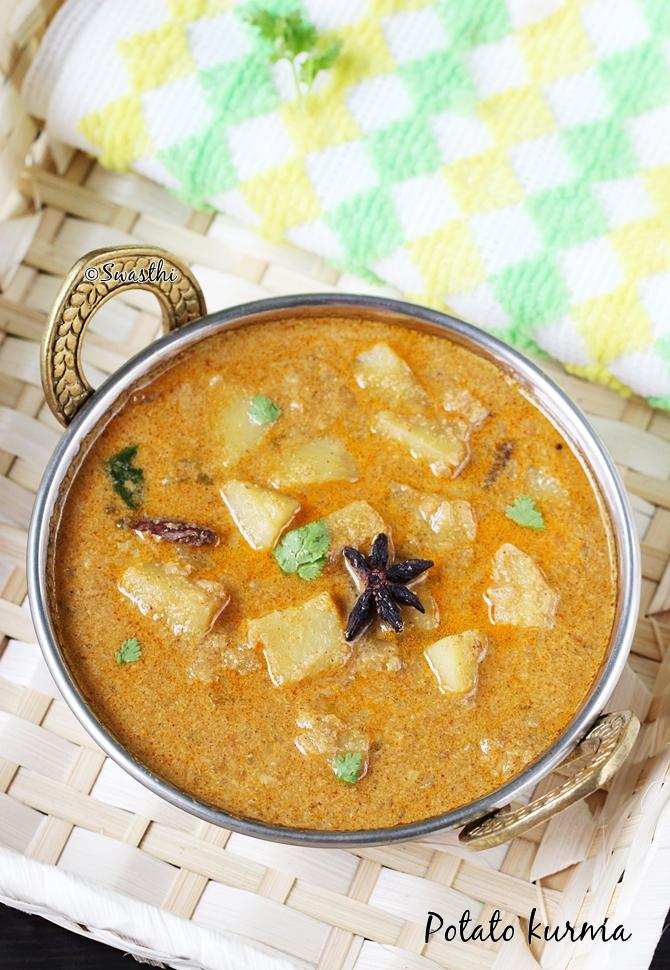potato kurma recipe aloo kurma recipe